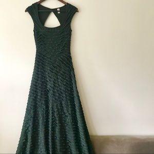 Free People Maxi Cap Sleeve Ruffle Bodycon Dress